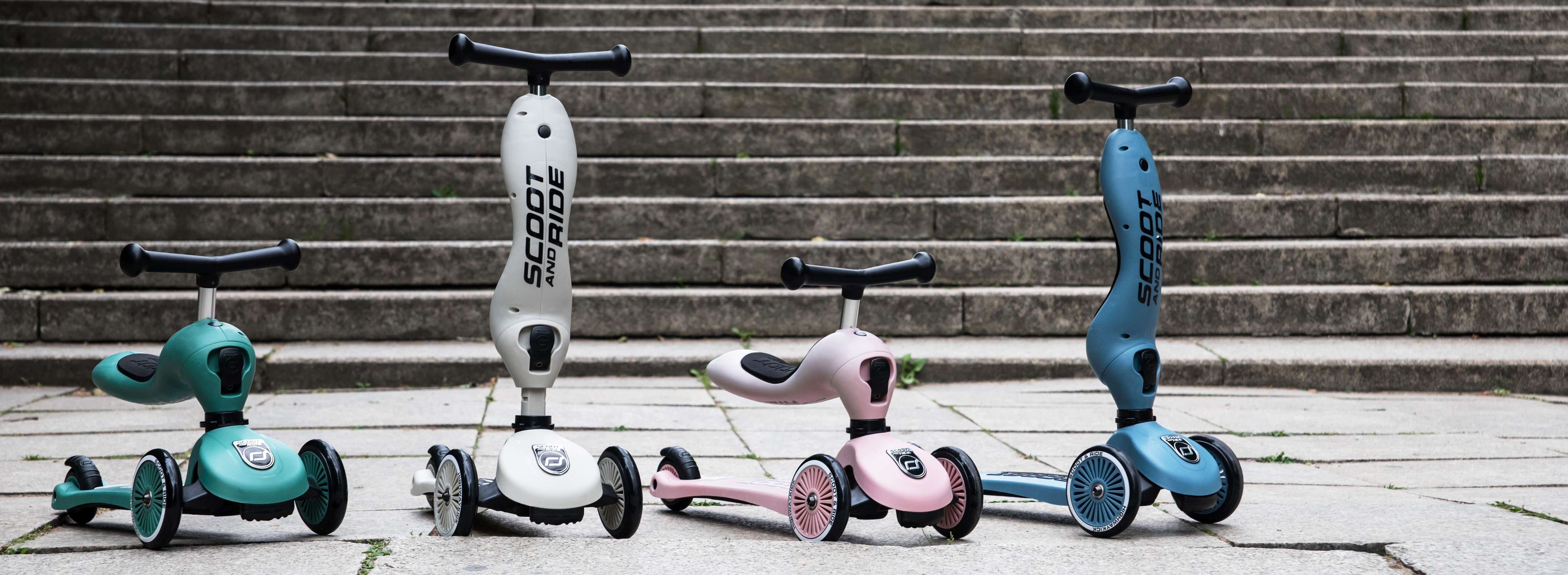 Scoot & Ride loopfietsjes en steps