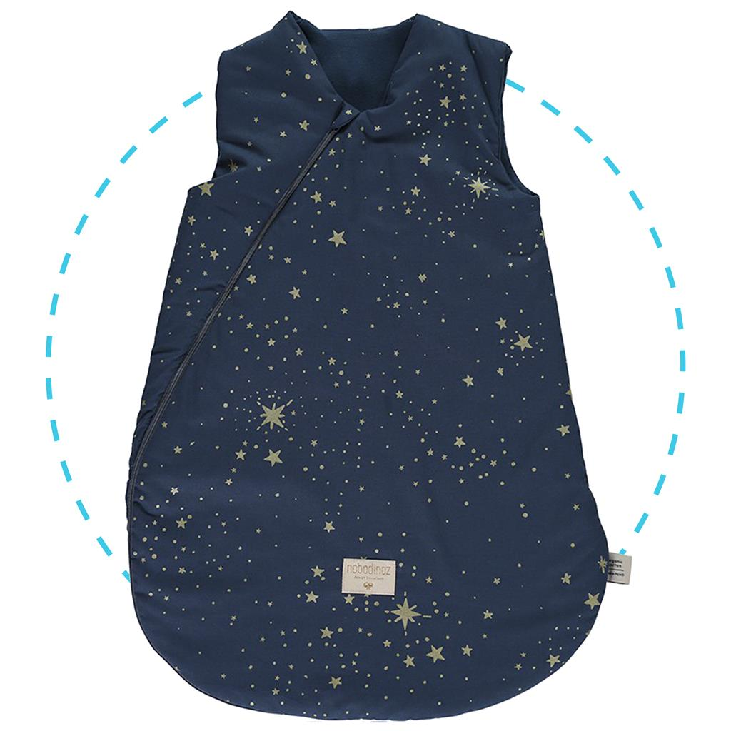 Slaapzak TS cocoon large (6-18m) Nobodinoz - gold stella/night blue