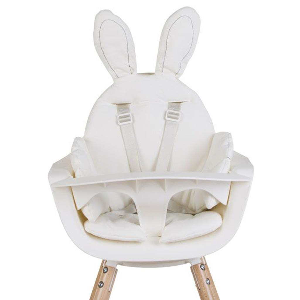 Stoelkussen rabbit jersey Childhome - wit