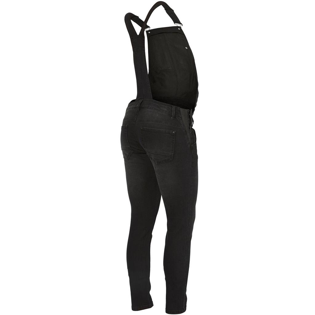 Jumpsuit Riga slim black Mamalicious - black denim
