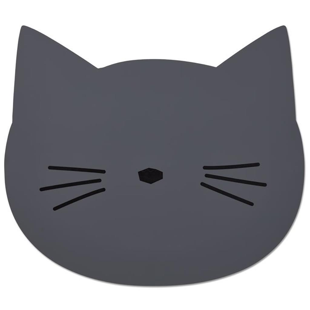 Placemat aura Liewood - cat (stone grey)