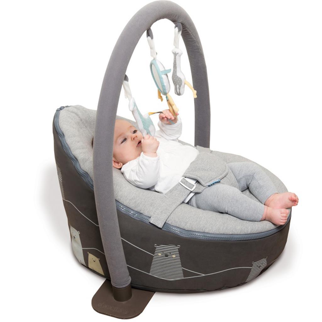 Baby Zitzak Doomoo.Doomoo Seat Bear Grey The Baby S Corner