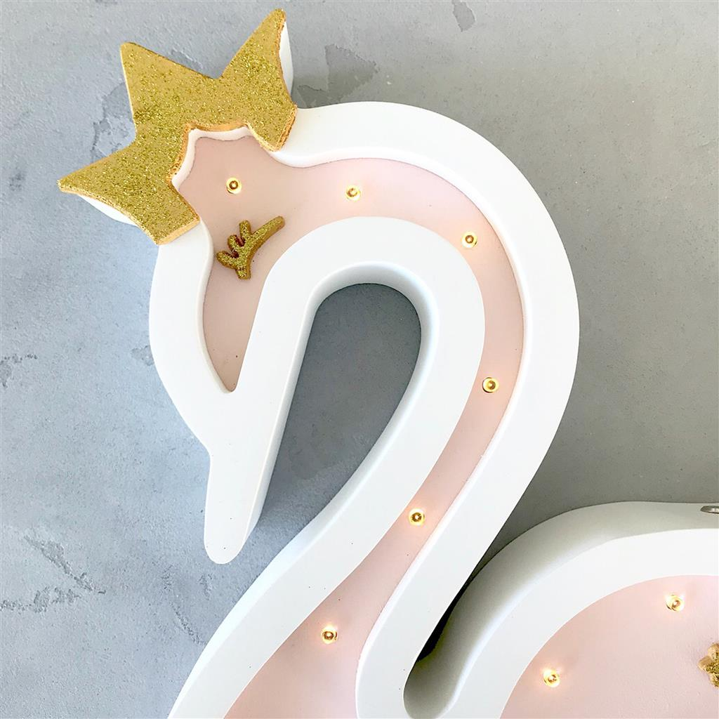 *Nachtlamp led eco zwaan SABO CONCEPT - lightpink