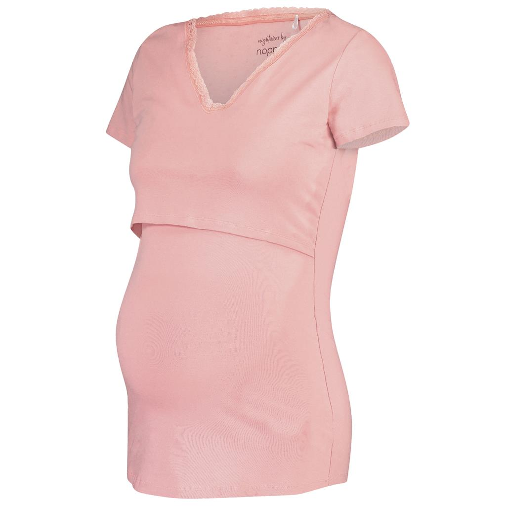 Borstvoeding T-shirt Floor Noppies Maternity - silver pink