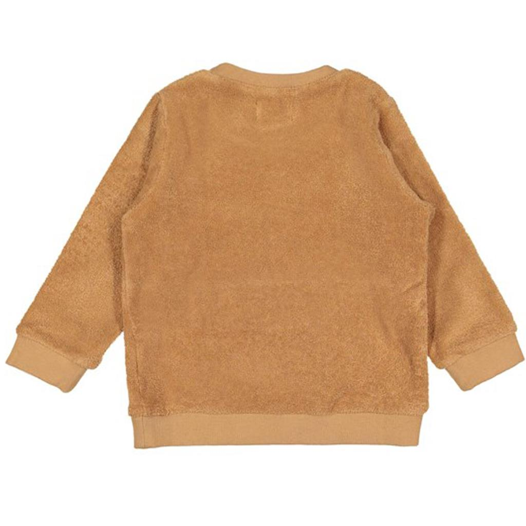 Sweater wood terry Filou - camel