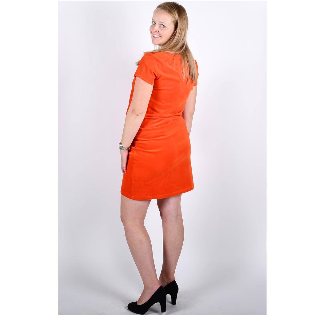 Jurk fancy pocket Fragile - tangerine