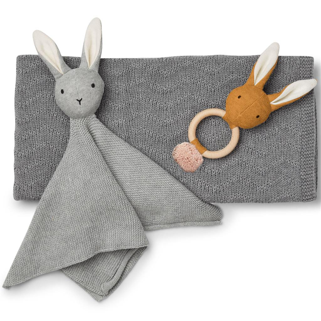 *Cadeauset Petra (baby knit package) Liewood - grey melange