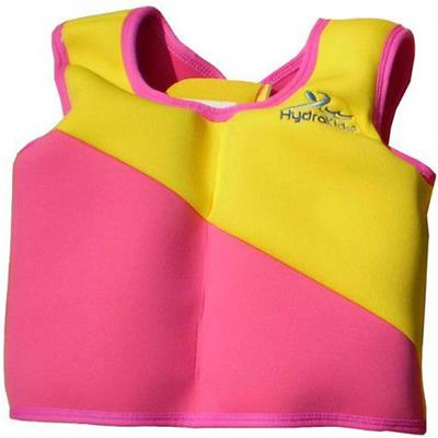 Swim trainer jacket (1-2jr) Hydrokids - geel-roze