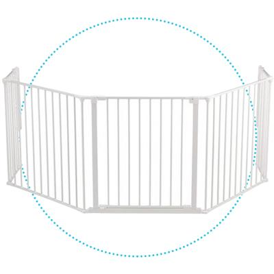 *Haardhekje Hearth Gate Flex XL Baby Dan  - wit
