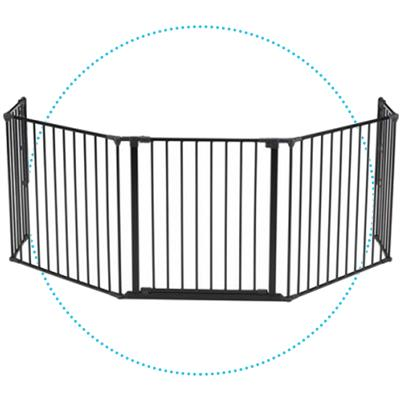 *Haardhekje Hearth Gate Flex XL Baby Dan  - zwart
