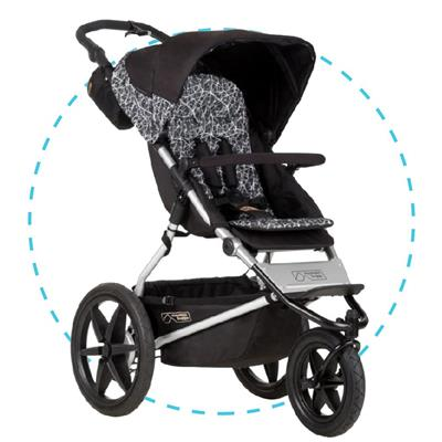 Driewieler Terrain 3.0 Mountain Buggy - graphite