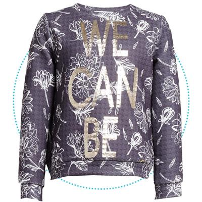Sweater met bloem Liu Jo - wint.grey - b.co latte