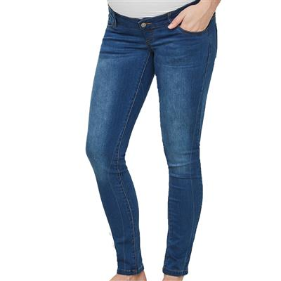 Jeansbroek fifty slim 32'' Mamalicious - medium blue denim