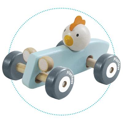 Planlifestyle - chicken racing car PlanToys