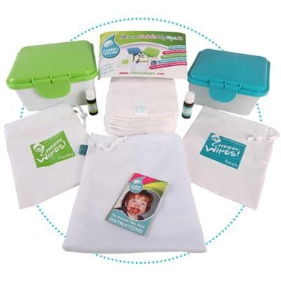Babydoekjes all-in-one bamboo wit Cheeky wipes