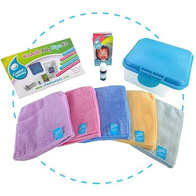 Doekjes hands+face kit rainbow micro Cheeky Wipes