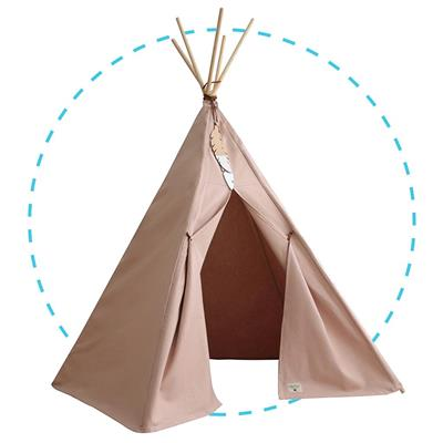 Tipi tent nevada Nobodinoz - bloom pink