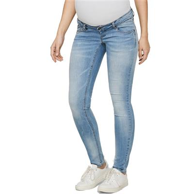 Jeansbroek birdie new slim Mamalicious - light blue denim