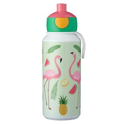 Drinkfles pop-up campus 400ml Mepal - tropical flamingo