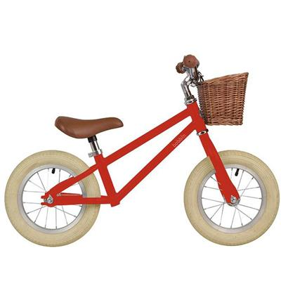 Loopfiets moonbug balance bike Bobbin - gloss red