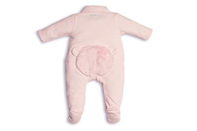 Babypakje teddy fur on back First - pink