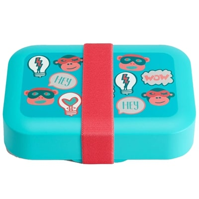 Lunchbox kids fun shapes Kipling - light blue