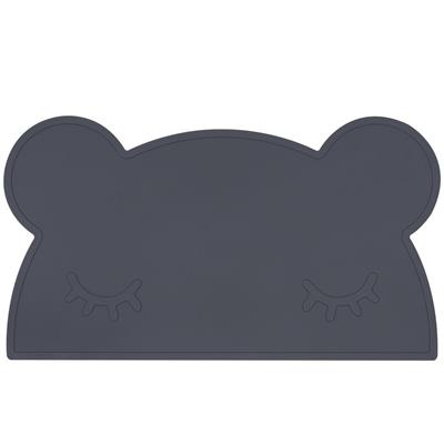 Placemat bear silicone we might be tiny - charcoal
