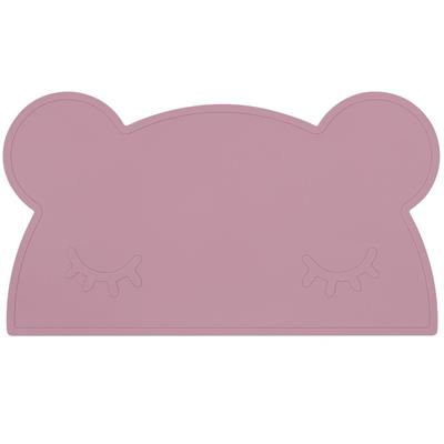 Placemat bear silicone we might be tiny - dusty rose