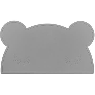 Placemat bear silicone we might be tiny - grey