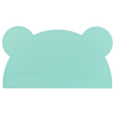 Placemat bear silicone we might be tiny - minty green