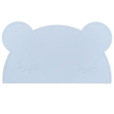 Placemat bear silicone we might be tiny - powder blue