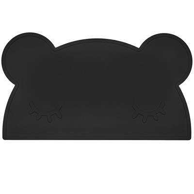 Placemat bear silicone we might be tiny - pure black