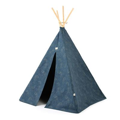 Tipi tent Phoenix Nobodinoz - gold bubble - night blue