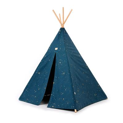 Tipi tent Phoenix Nobodinoz - gold stella - night blue