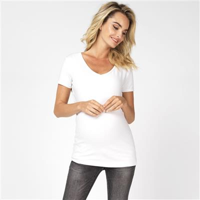 T-shirt Rome Noppies Maternity - Optical White