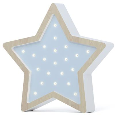Nachtlamp led eco ster SABO CONCEPT - wooden-blue
