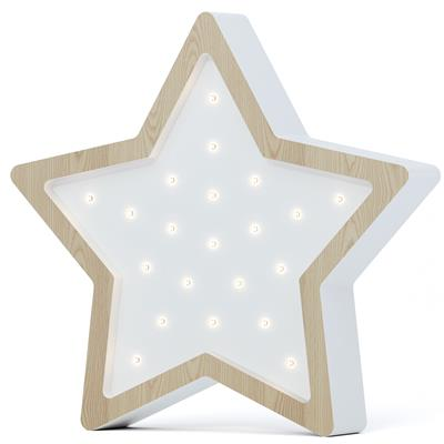 Nachtlamp led eco ster SABO CONCEPT - wooden-white