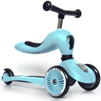 Loopfiets/step highwaykick 1 Scoot & Ride - blueberry