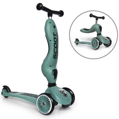 Loopfiets/step highwaykick 1 Scoot & Ride - forest