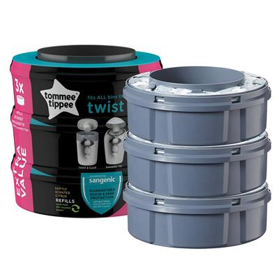 Navulcassettes (3st) twist sangenic Tommee Tippee