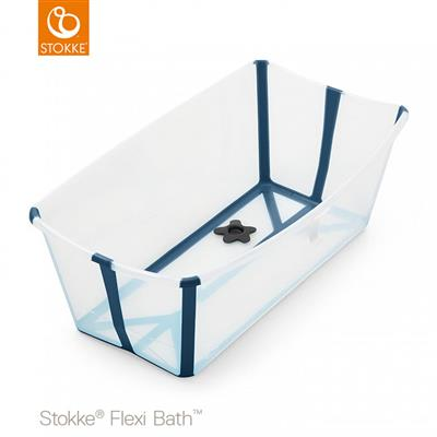 Badje flexi bath (incl. newborn support) Stokke® - transparent blue