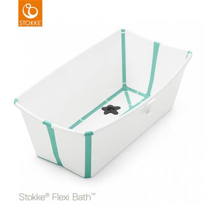 Badje flexi bath (incl. newborn support) Stokke® - white-aqua