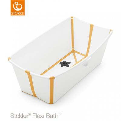 Badje flexi bath (incl. newborn support) Stokke® - white-yellow