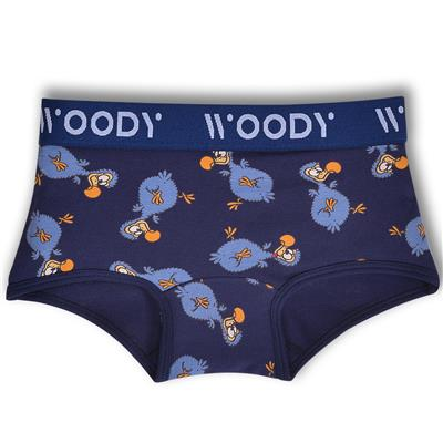 Short Woody - donkerblauw dodo all-over print