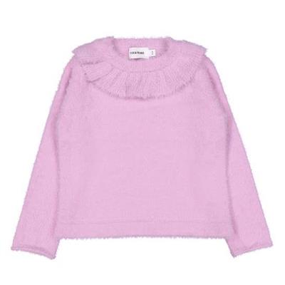 Pull tricot colette feather Filou - paars