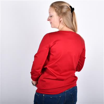 Sweater zip Fragile - red