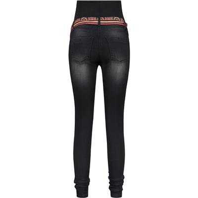 Jeansbroek Sophia 30'' met riem Love2wait - charcoal