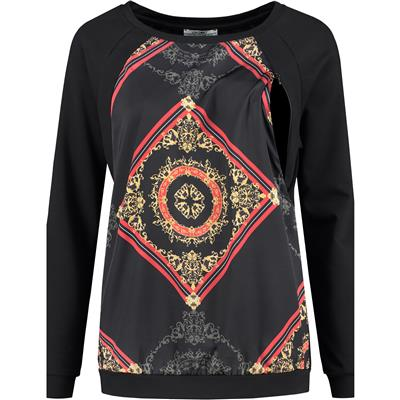 Voedingssweater Baroque Love2wait - black
