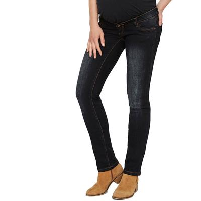 Jeansbroek Main straight Mamalicious - dark blue denim