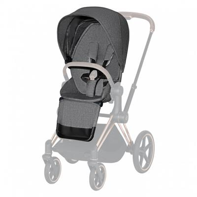 Buggyzit (plus) voor kinderwagen priam Cybex - manhattan grey (mid grey)
